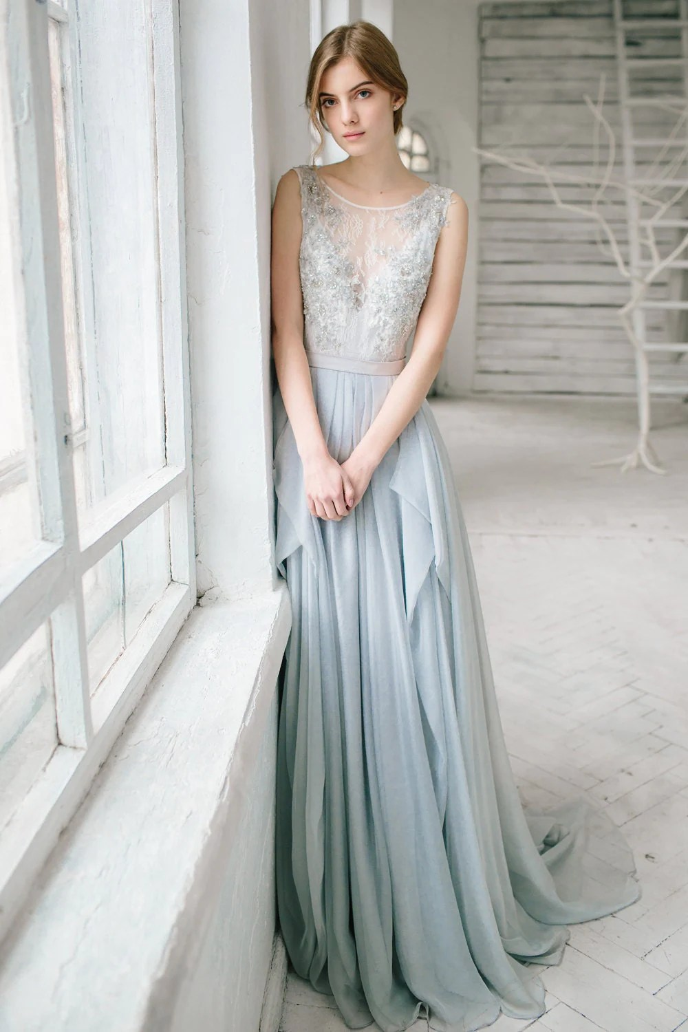 silver grey wedding dress lobelia silver wedding dresses Silver grey wedding dress Lobelia zoom