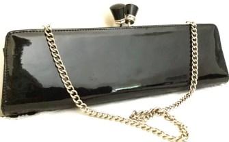 Vintage Clutch Bag - Vintage Aldo Purse - Patent Leather Clutch