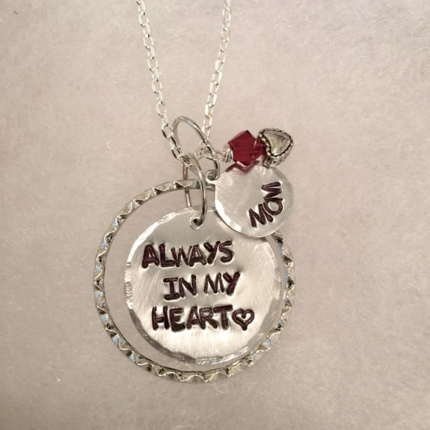 Hand Stamped, Keepsake Necklace