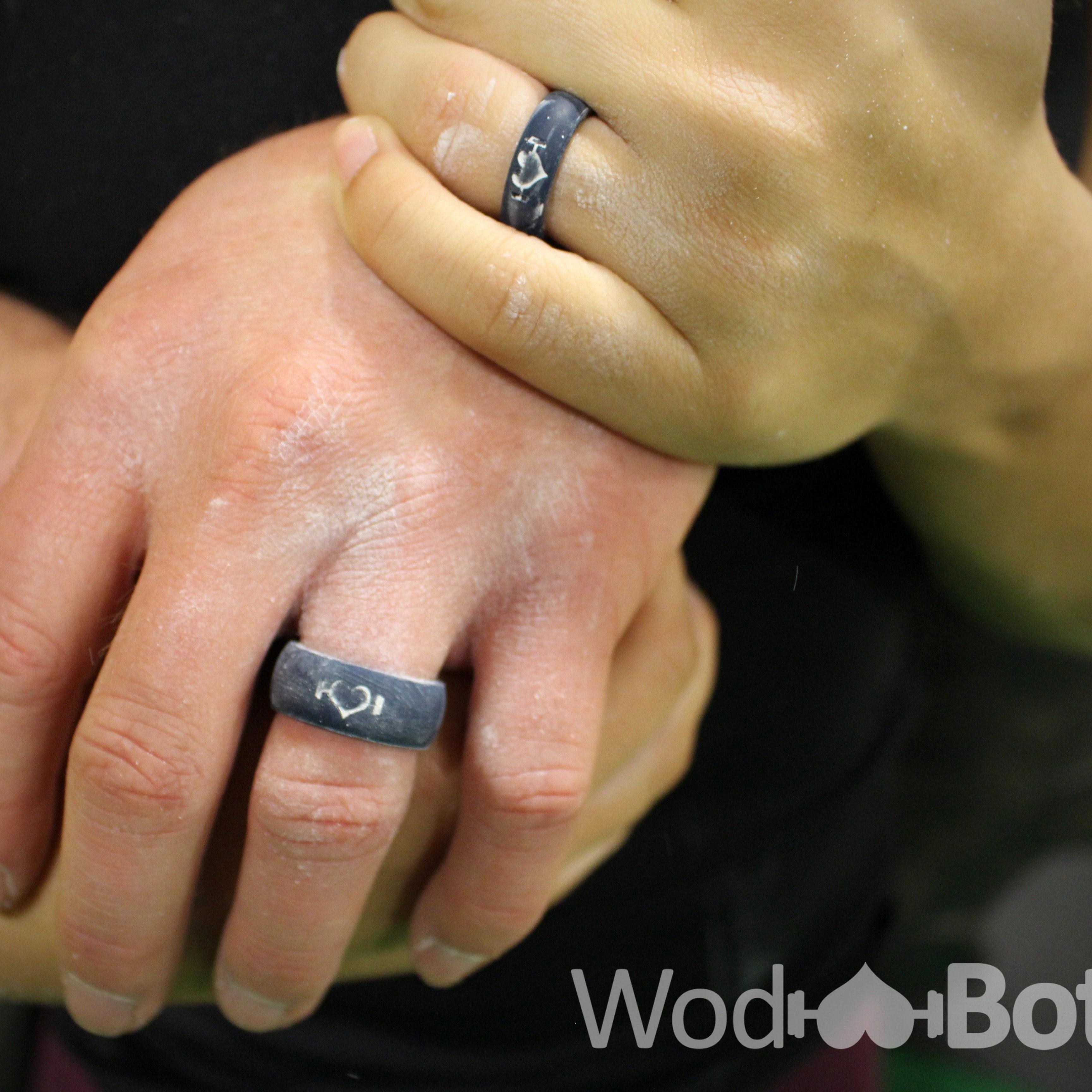 WodBottom mens rubber wedding bands