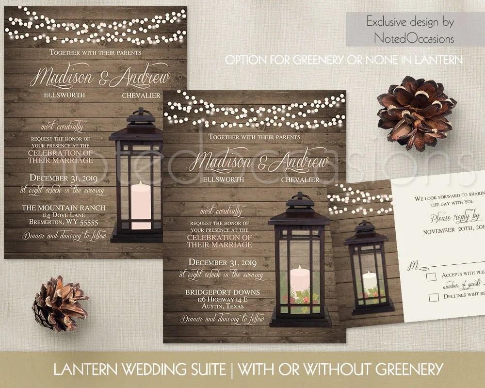 lantern wedding invitations rustic christmas wedding invitations zoom