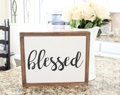 Blessed Wood Sign | Paint...