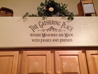 DIY crafts The Gathering Place wall decal quote vinyl