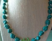 Upcycled Faux Turquoise a...