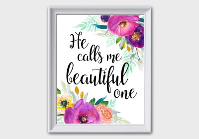 He Calls Me Beautiful One Song of Solomon 2:1 by MintCherries