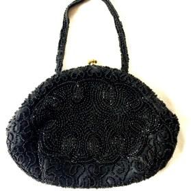 Vintage Clutch - Black Evening Bag - Clutch Purse - Designer Clutch