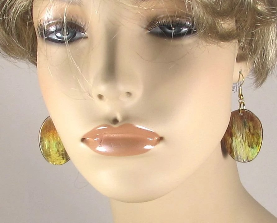 Earth tone earrings, Drop...