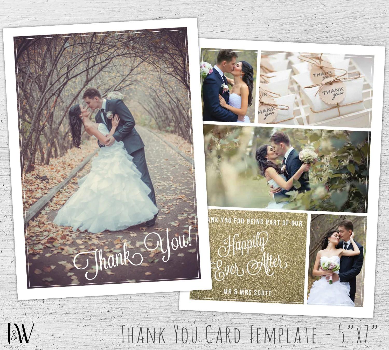 photo thank you card thank you cards wedding Wedding Thank You Card Template Photoshop Template Wedding Photography Marketing Thank You Card Wedding Thank You Cards Photo 03 PV