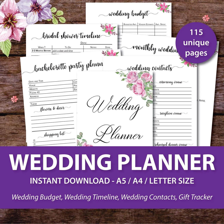wedding planner book wedding planner binder Wedding Planner Printable Wedding Binder Printables Wedding Planner Book Wedding Organizer Book Wedding Planner Notebook Journal