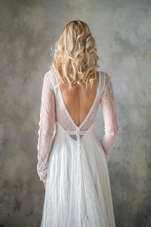 boho wedding dress boho wedding dresses Long Sleeve boho wedding dress bohemian wedding dress lace wedding dress backless wedding dress boho bridal gown bridal dress