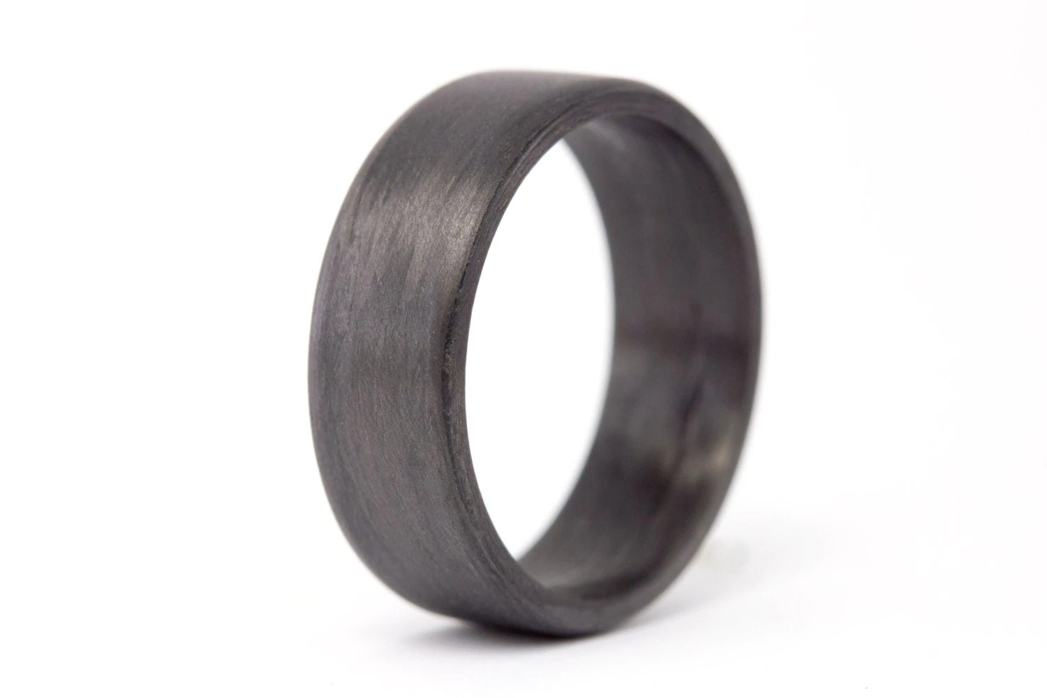 hypoallergenic rings police wedding bands Men s carbon fiber flat ring Unique and instrial black wedding band Water resistant very durable and hypoallergenic 7N