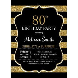 Small Crop Of 80th Birthday Invitations