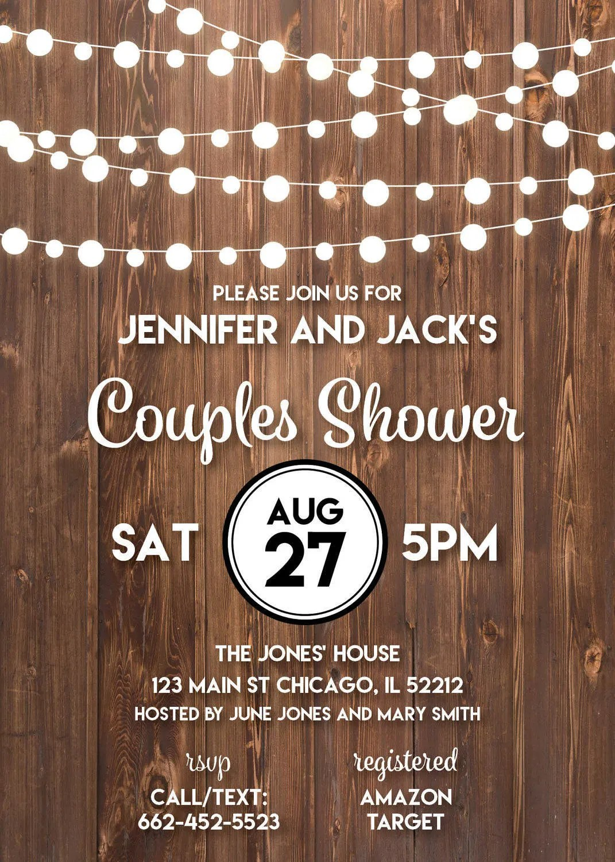Fullsize Of Rustic Bridal Shower Invitations