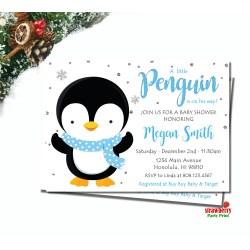Deluxe Penguin Baby Shower Boy Winter Baby Shower Penguin Snowflake Penguin Baby Shower Boy Winter Baby Shower Invitation Baby Shower Invitations Boy Safari Baby Shower Invitations Boy Amazon