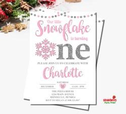 Small Of Winter Onederland Invitations