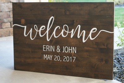 Custom Wedding Welcome Sign PLEASE read details. Personalized