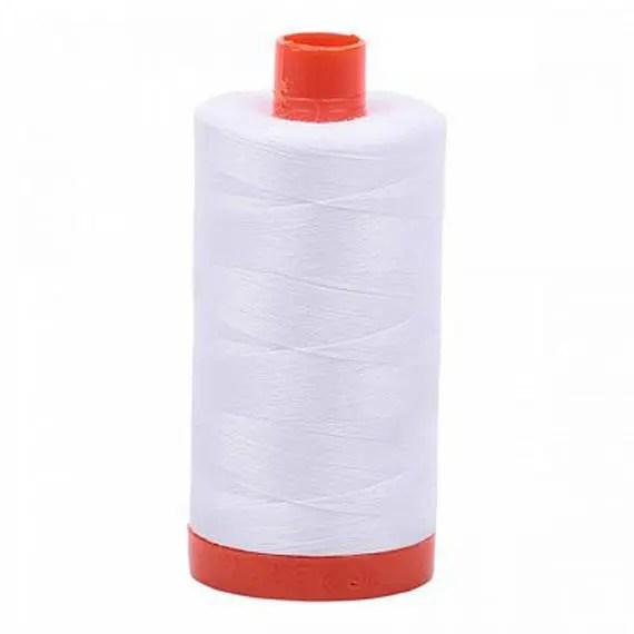 Aurifil Cotton Thread - 50 wt - White