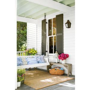 Lummy Patios That Are Giving Us Major Inspiration Small Porch Ideas Small Porch Ideas Uk Inside Green Shutters Swing Tiny Porches Porch