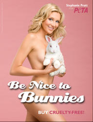 Stephanie Pratt go naked for PETA campaign - Hot Celebs Home