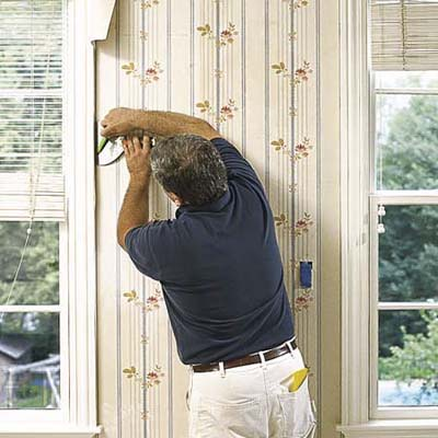 Trim around windows and doors | How to Hang Wallpaper ...
