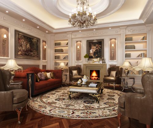 Medium Of Classic Style Living Rooms