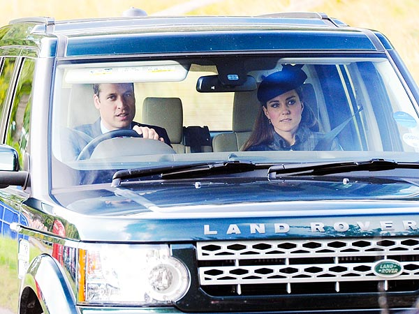Prince William, Kate Middleton Drive to Church in Balmoral