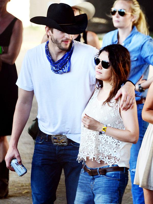 Mila Kunis and Ashton Kutcher Stagecoach