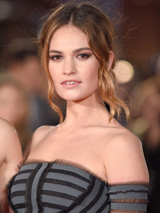Lily James My Burberry