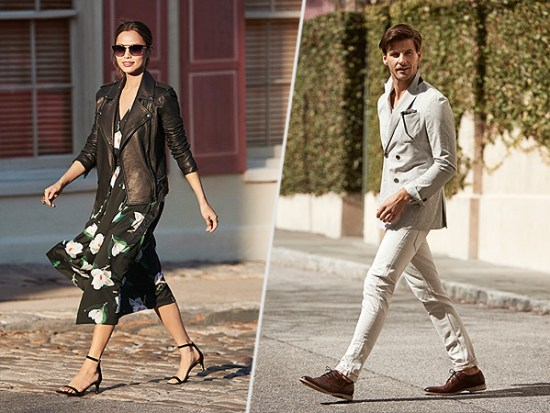 Jamie Chung and Johannes Huebl for Banana Republic