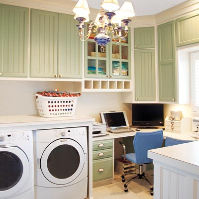 Home Office Laundry Room  At The Picket Fence