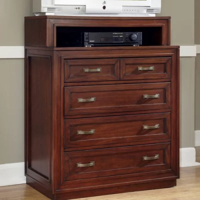 Home Styles Lafayette 4 Drawer Media Chest & Reviews | Wayfair