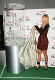 Tennis star Maria Sharapova shows legs as she unveils the new Canon PowerShot Diamond Collection at Pier 17 at the South Street Seaport on August 20, 2008 in New York City