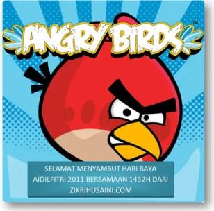 kad raya2011, ucapan kad raya 2011, kad raya kreatif, kada raya angry bird 2011, gambar kad raya yang kreatif, kad raya yang cool, angry bird kad raya, annry bird pakai songkok