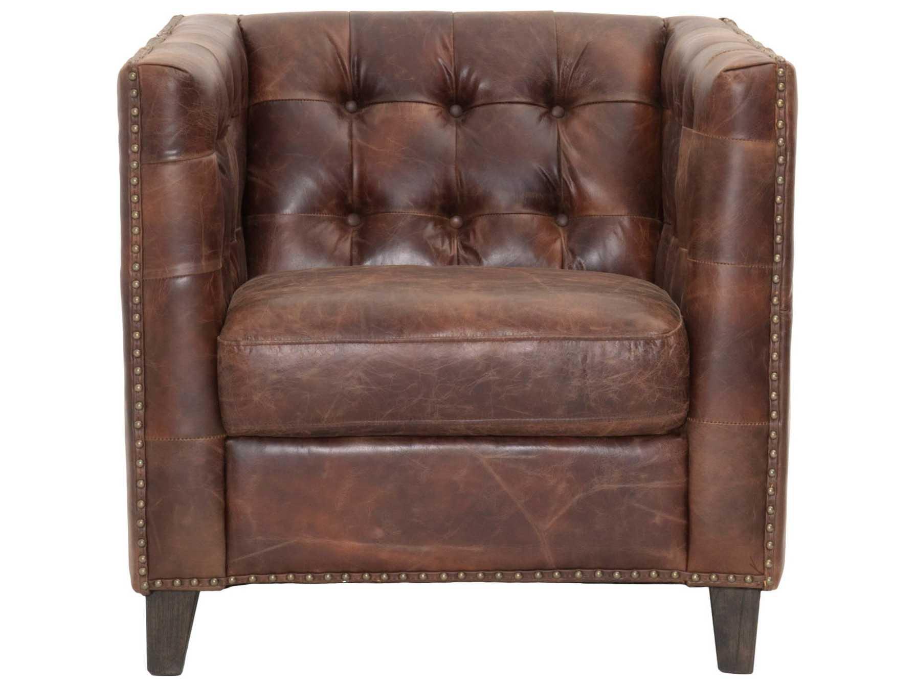 Orient Express Furniture Patina Ritchey Cigar Antique Leather Sofa Chair  Antique Leather Sofa A70