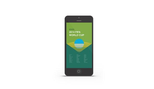 Abduzeedo's iPhone wallpaper of the week - 2014 FIFA World Cup