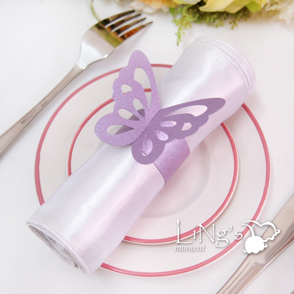 butterfly wedding rings Butterfly Paper Napkin Ring Wedding Party Shower Favor