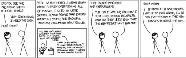 xkcd's take on faster than light neutrinos