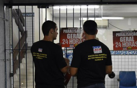 Policiais civis em greve de 24 horas nesta quinta-feira. Foto: Sinpol/ Reprodução/ Facebook