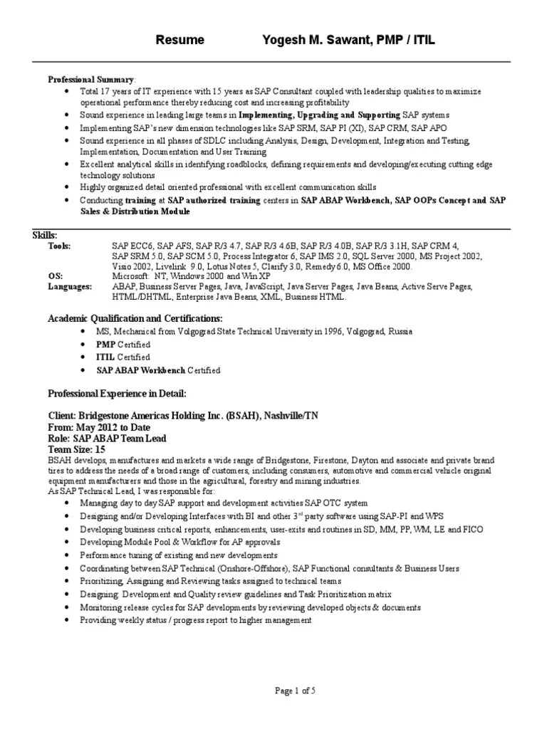 Sap Qm Resume sap hr payroll consultant resume resumes ...