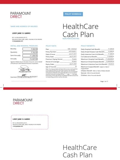 HealthCare Cash Plan Policy | Insurance | Hospital