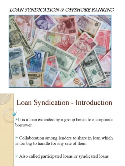 Loan Syndication - Introduction