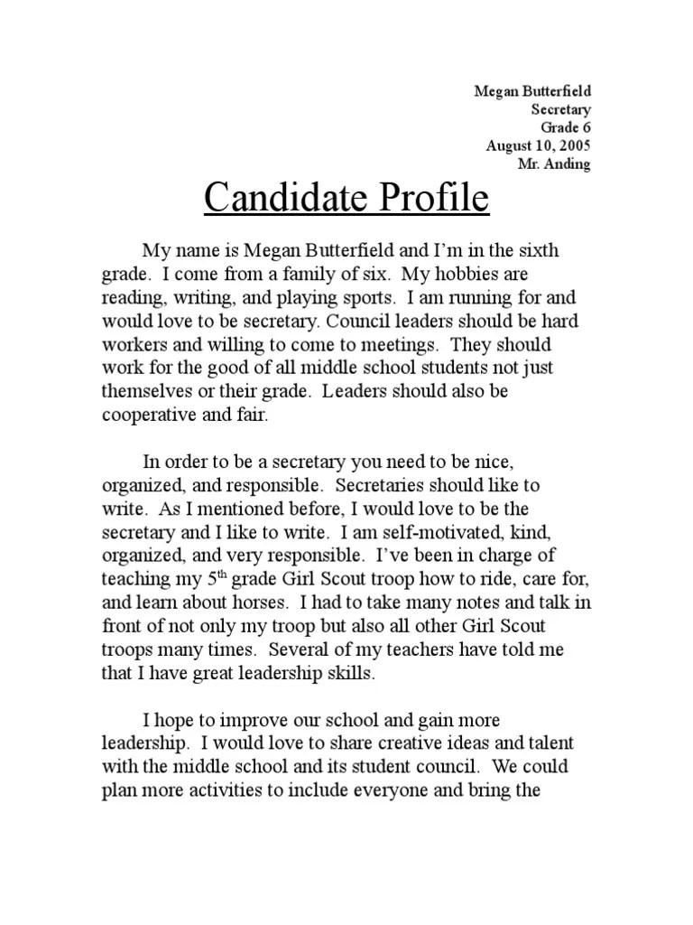 Write student council essay