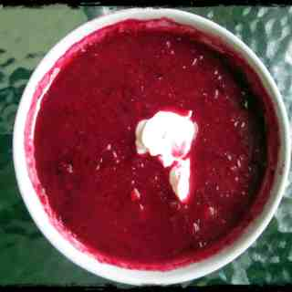 Sweet and sour borscht