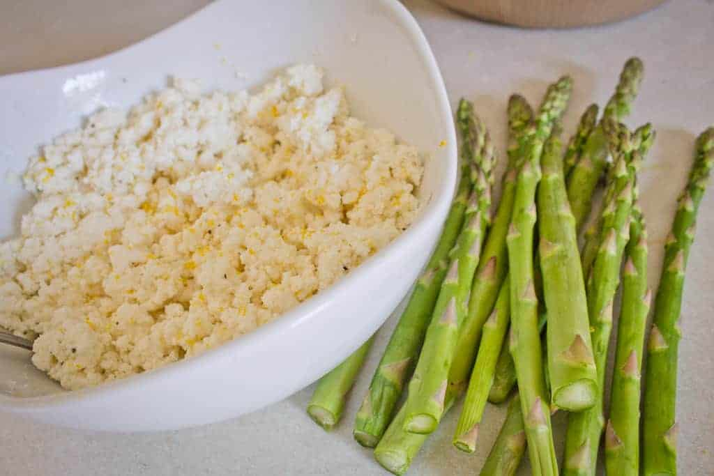 asparagus and ricotta tart main ingredients