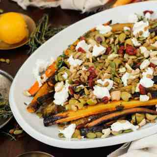 Blog146_Img8_Middle Eastern roasted carrots with olives, harissa, preserved lemon and Natursource salad topper