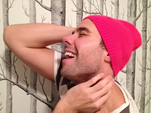 Mr. Fab in pink toque