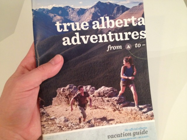 Travel Alberta Guide Book from A--Z