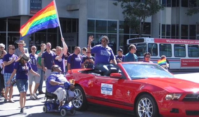 Nenshi in YYC Pride Parade Gay LGBT