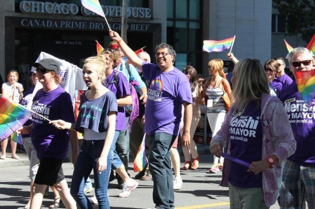 Nenshi Pride Parade Gay Mr Fab
