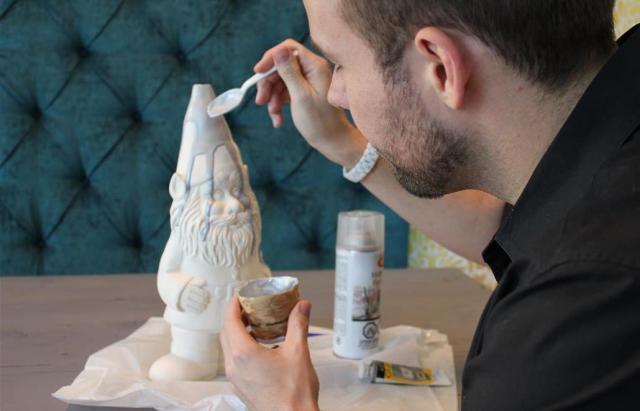 DIY Garden Gnome Lamp Home Decor (2)